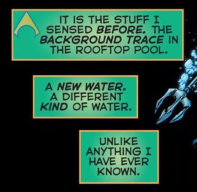 - excerpt of 13 year old Aquaman's diary detailing some strange new feelings