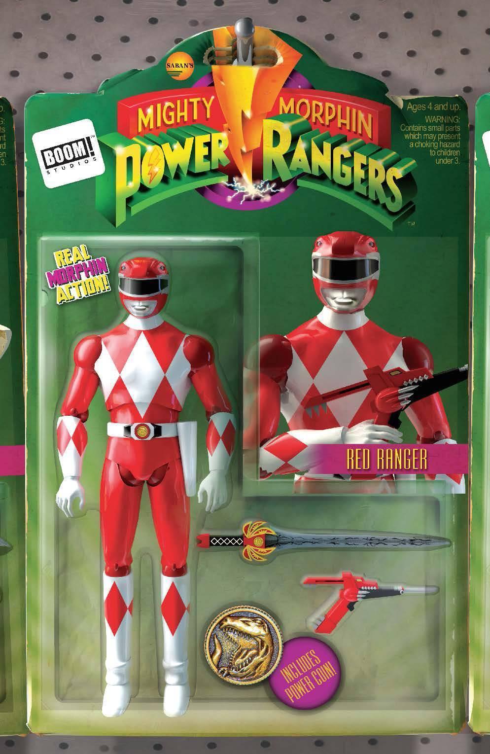 Might Morphin Power Rangers #2 Unlock Action Figure Variant by David Ryan Robinson