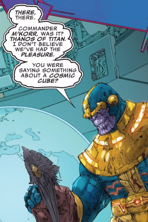 of course a promotion hungry bureaucrat would team up the Mad Titan.