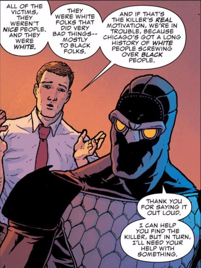I don't ever imagine Commissioner Gordon saying anything like that.