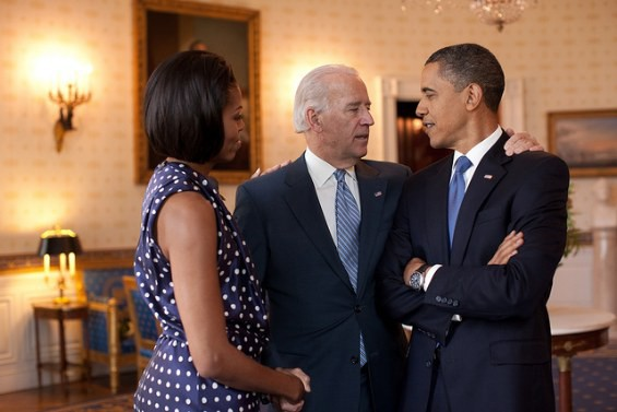 Obama: I need Grunt back up to speed. What's wrong with him?  Michelle: There's nothing wrong with him. He's becoming a full adult.  Biden:  Adolescence? Can't we just take him to Omega and buy him a few dances?