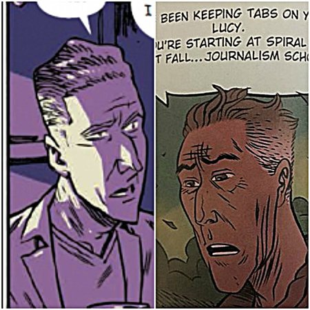 """James Robinson in """"Airboy"""" on left, Jimmy Robinson in """"Black Hammer"""" on right."""
