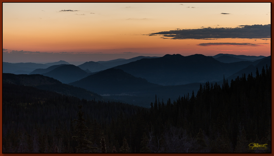 """Sunrise from Bear Lake Trailhead""  ©2016 Jon S. Berndt     A September sunrise from the Bear Lake trailhead in Rocky Mountain National Park. To see a larger version and for purchase options,  click here ."