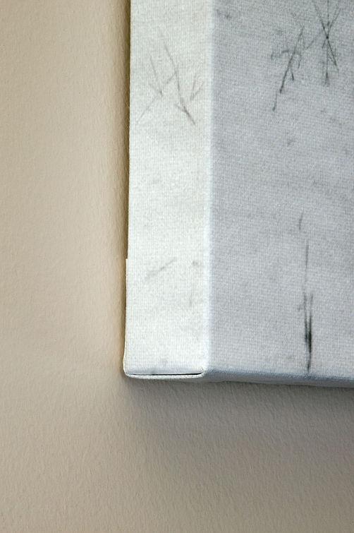 Canvas gallery wrap edge detail.