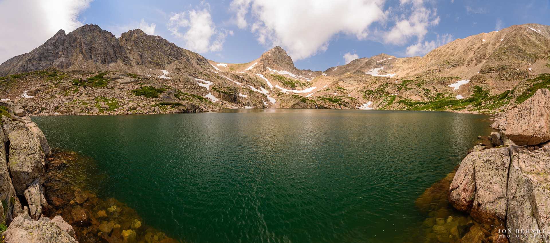 Blue Lake in the Indian Peaks Wilderness of Colorado. This alpine lake is located at an elevation just shy of 11500 feet (3500 meters) above sea level.(C) 2017 Jon Berndt Photography