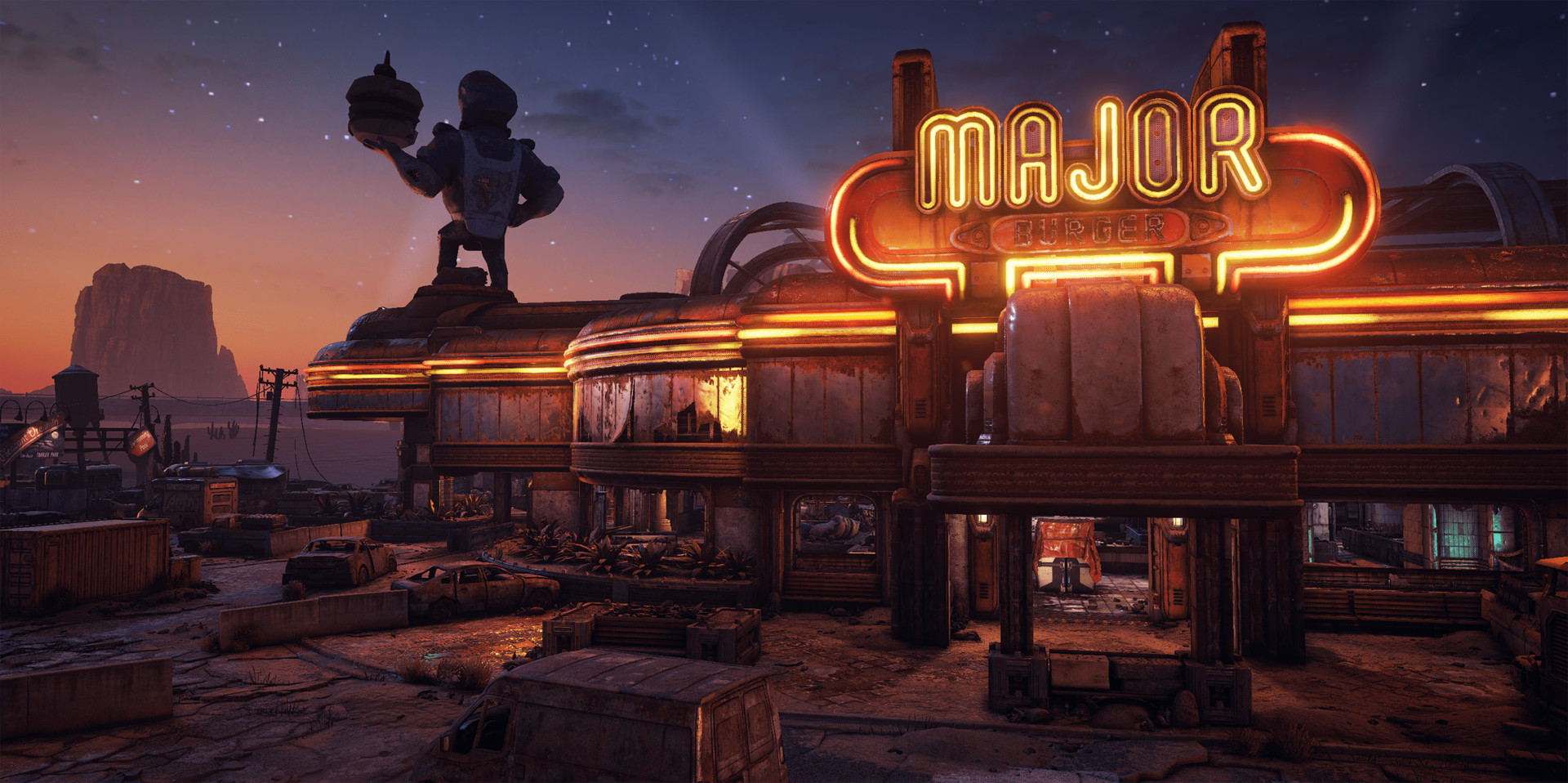 *Responsible for Mascot and part of the diner external meshes, materials, and textures.