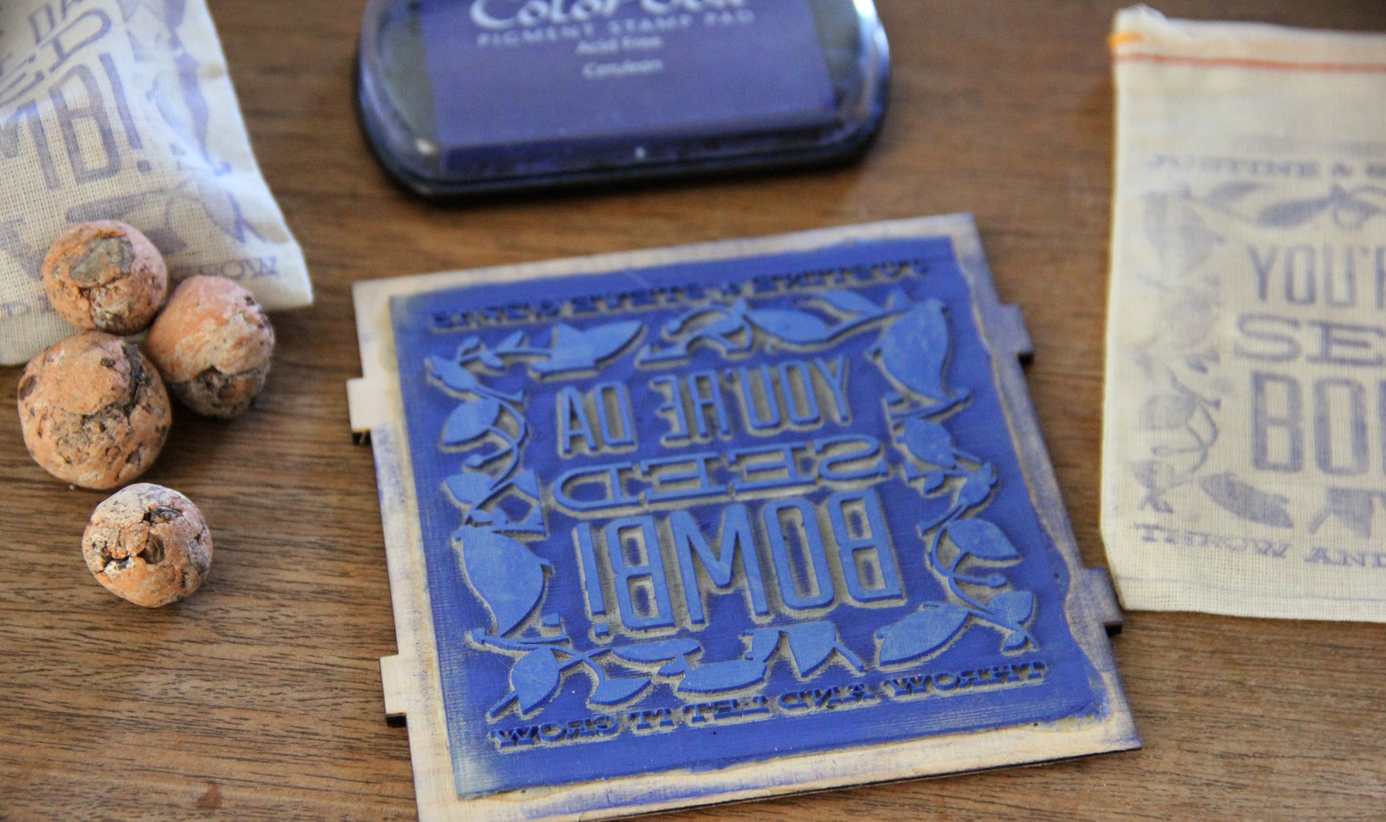 Laser engraved custom stamp