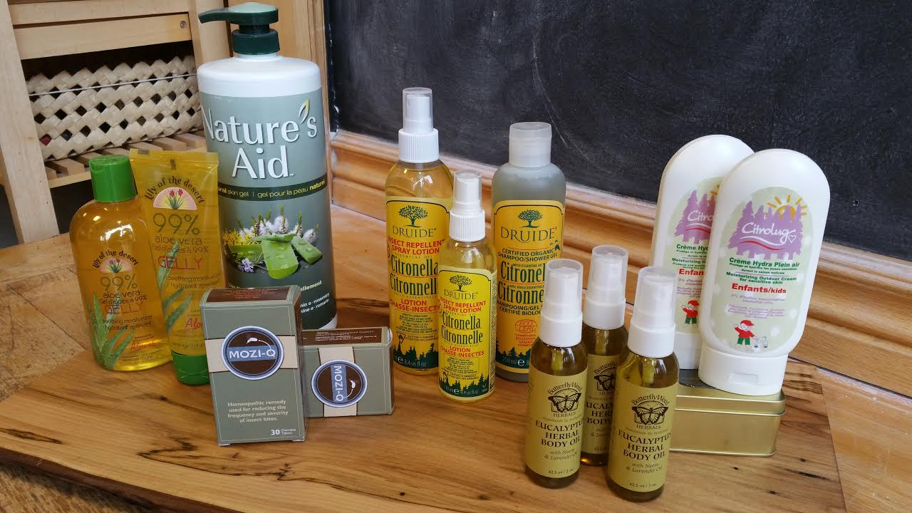 Some of our skin soothers and outdoor sprays!