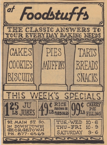 I remember Linda coming in right from the start. This is one of the early ads she would have seen in the local paper - M