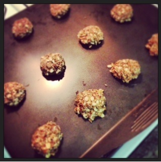 ANZAC cookies on tray