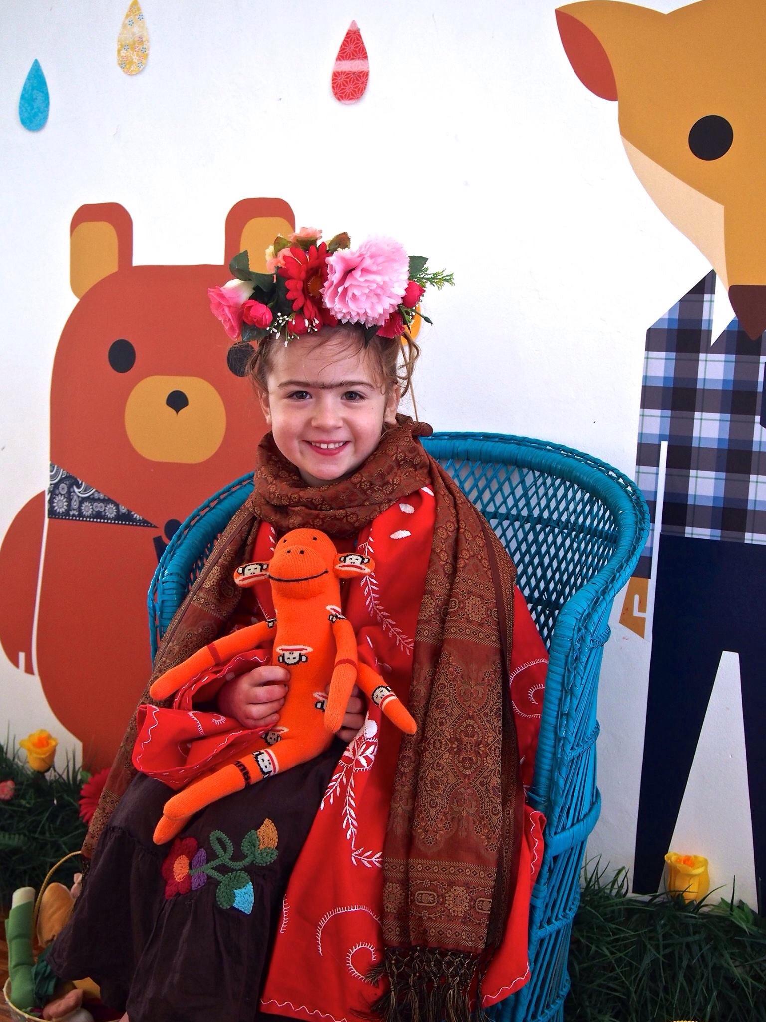 Frida enjoying the school holiday program.
