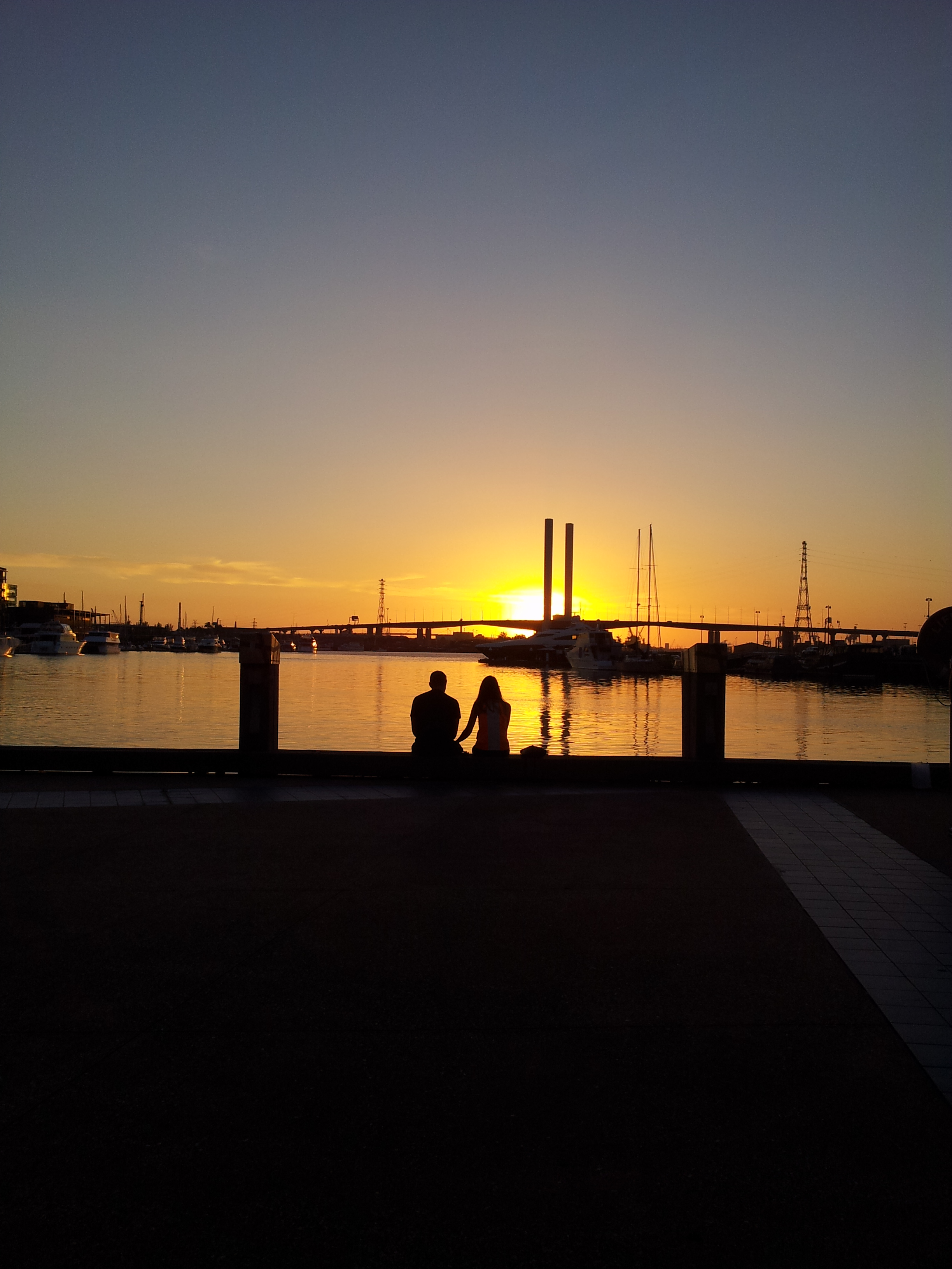 2. Watching sunset over the Bolte Bridge.
