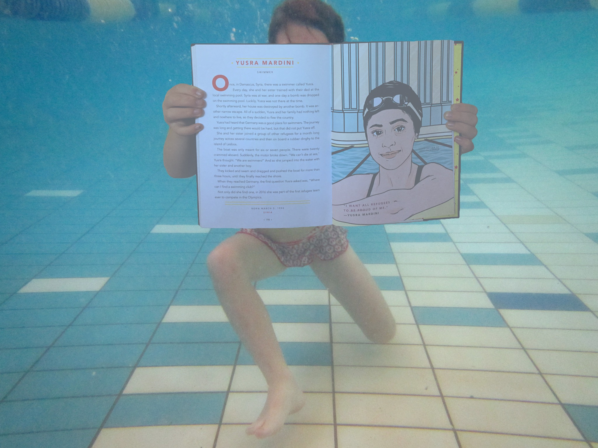 Local swimming pool, Yusra Mardini