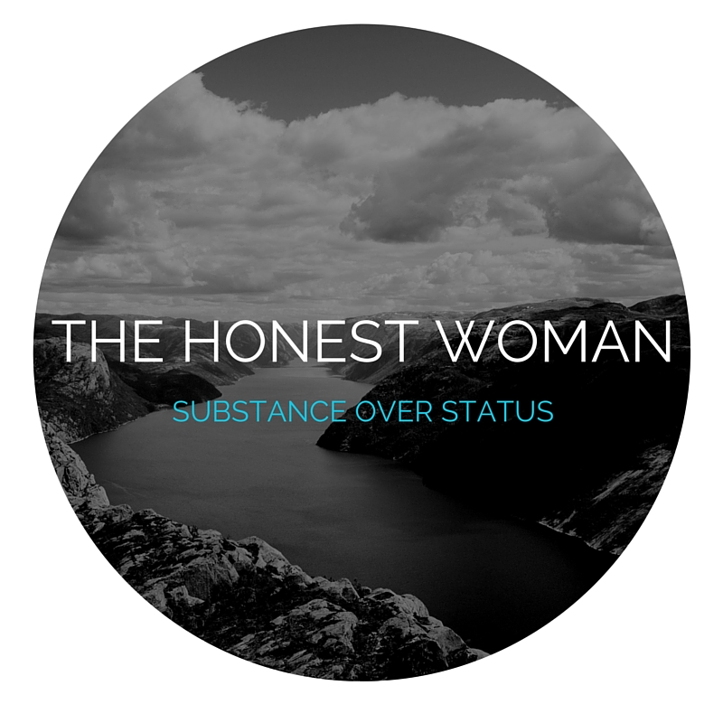 A quick logo I made for my personal blog, THE HONEST WOMAN.