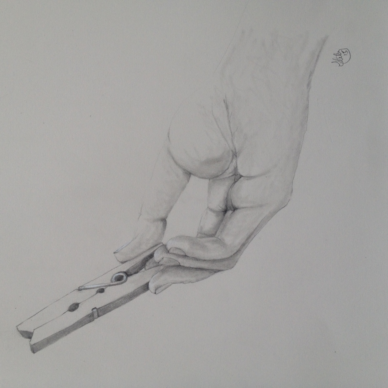 Hand study : Olivia i