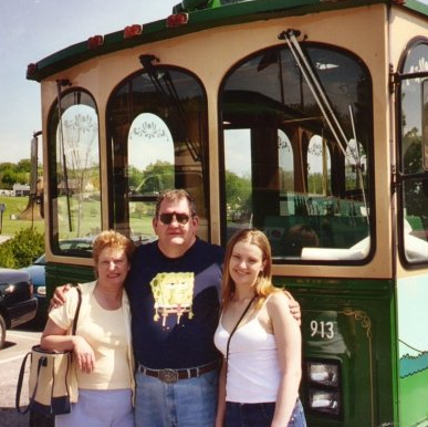 With my parents in Pigeon Forge, Tennessee . . .  back when I  thought  I was fat.  Smh .