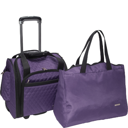 Travelon Wheeled Under-Seat Carry-On with Back-Up Bag - Wheeled Under-Seat Carry-On with Back-Up Bag
