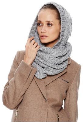 Knitted hood - for colder climates.