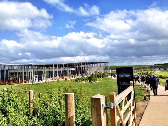 The Visitor Centre has an exhibition, gift shop, cafe, and even  Neolithic dwelling replicas .