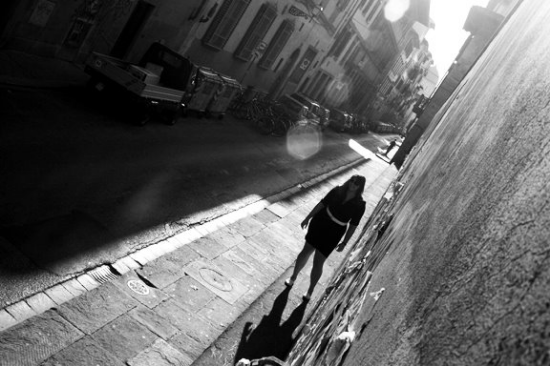 Wandering the streets of Florence.