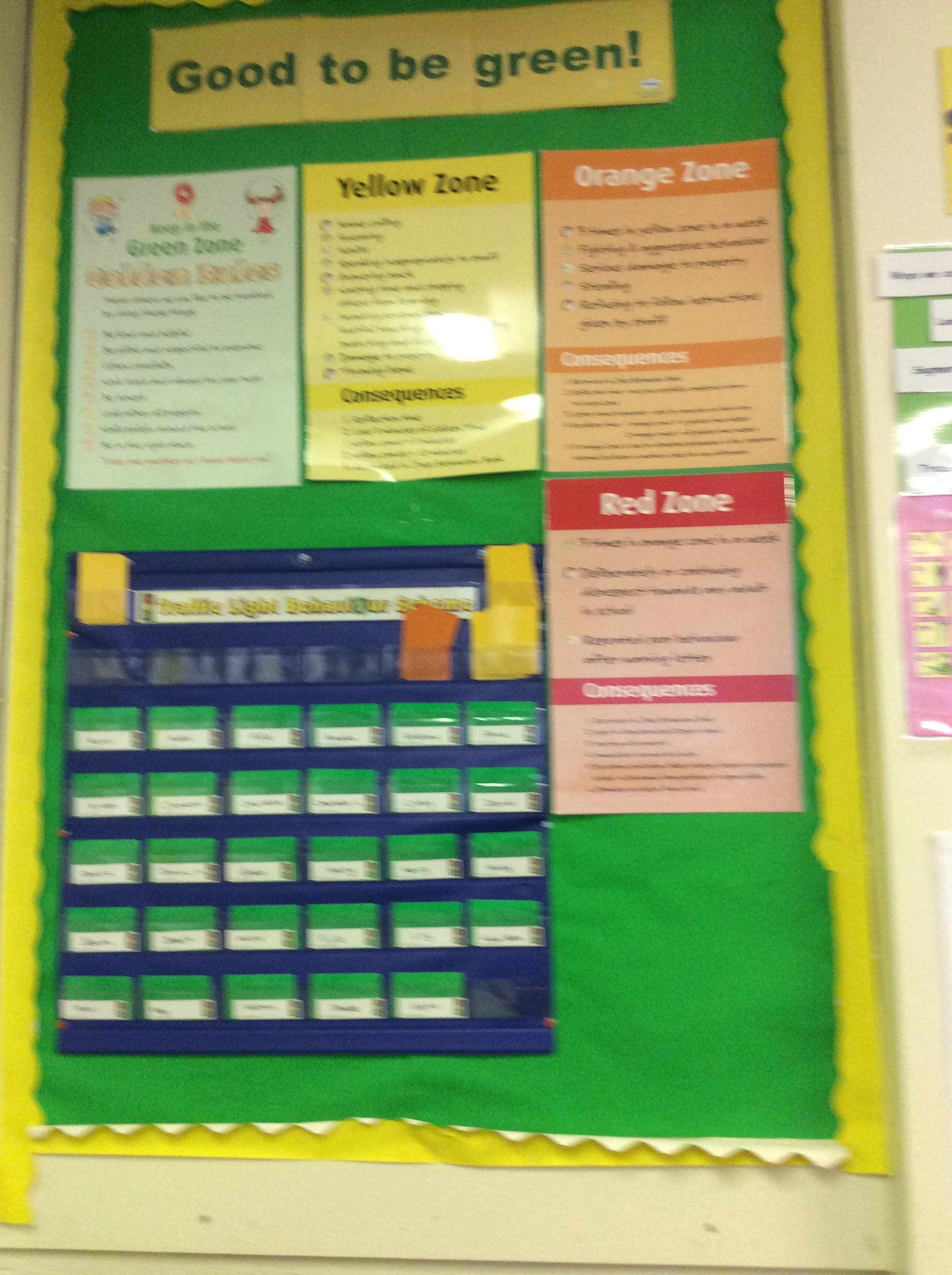 Our behaviour system. It's good to be green