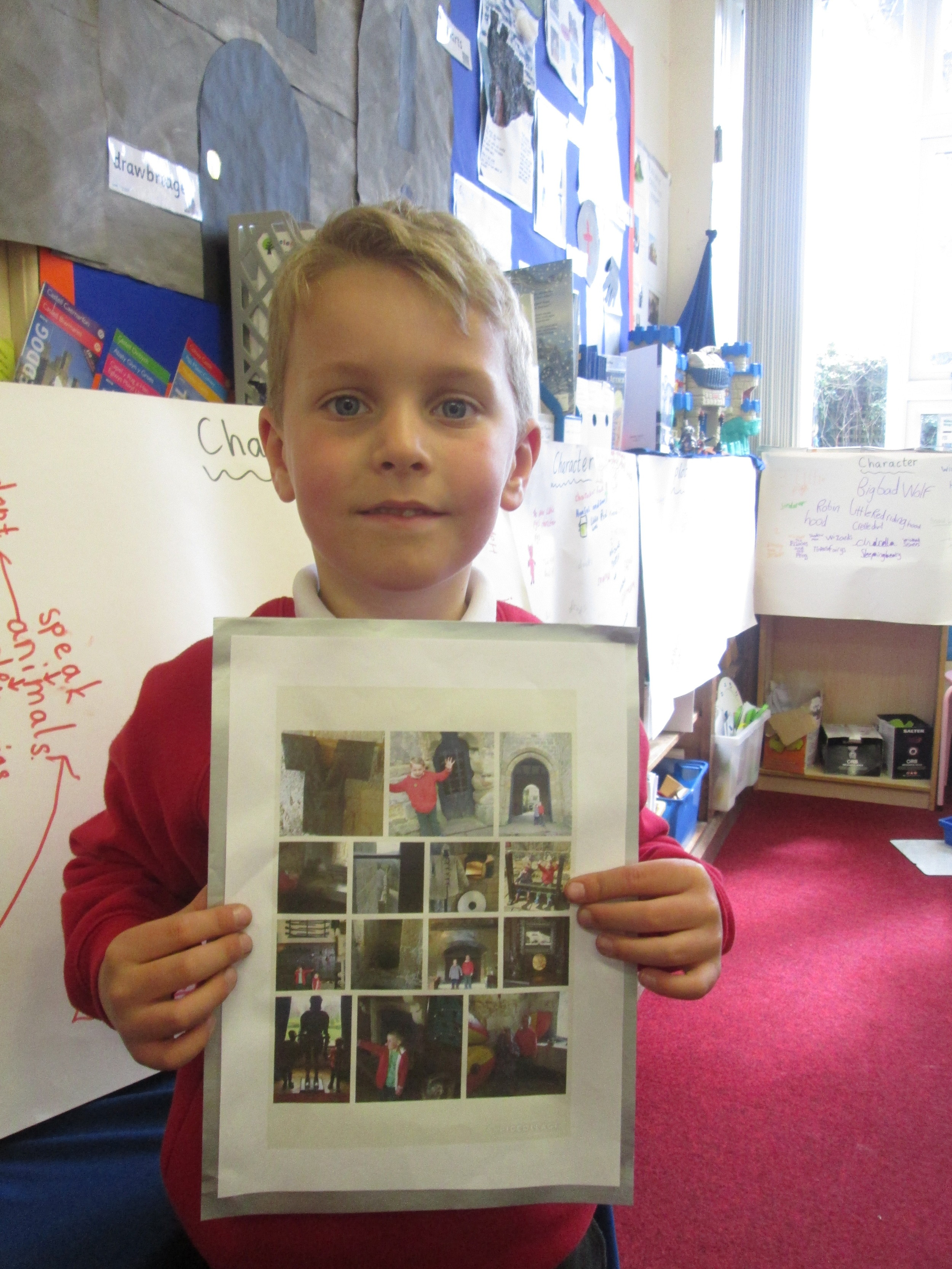 Jack visited a castle with his family. He was able to tell us a lot about castle life and we have used his photos as a useful source of information in a Topic lesson.We were glad he survived a trip to the dungeons!