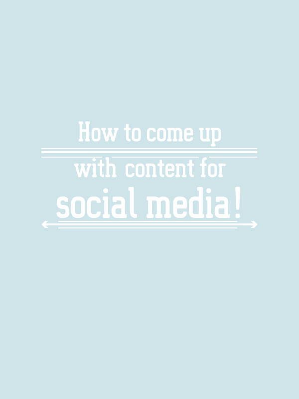 how to come up with content for social media. the BIZ-school for creatives. Check out the full post at www.kerstinpressler.com/blog-how-to-come-up-with-content-for-socialmedia