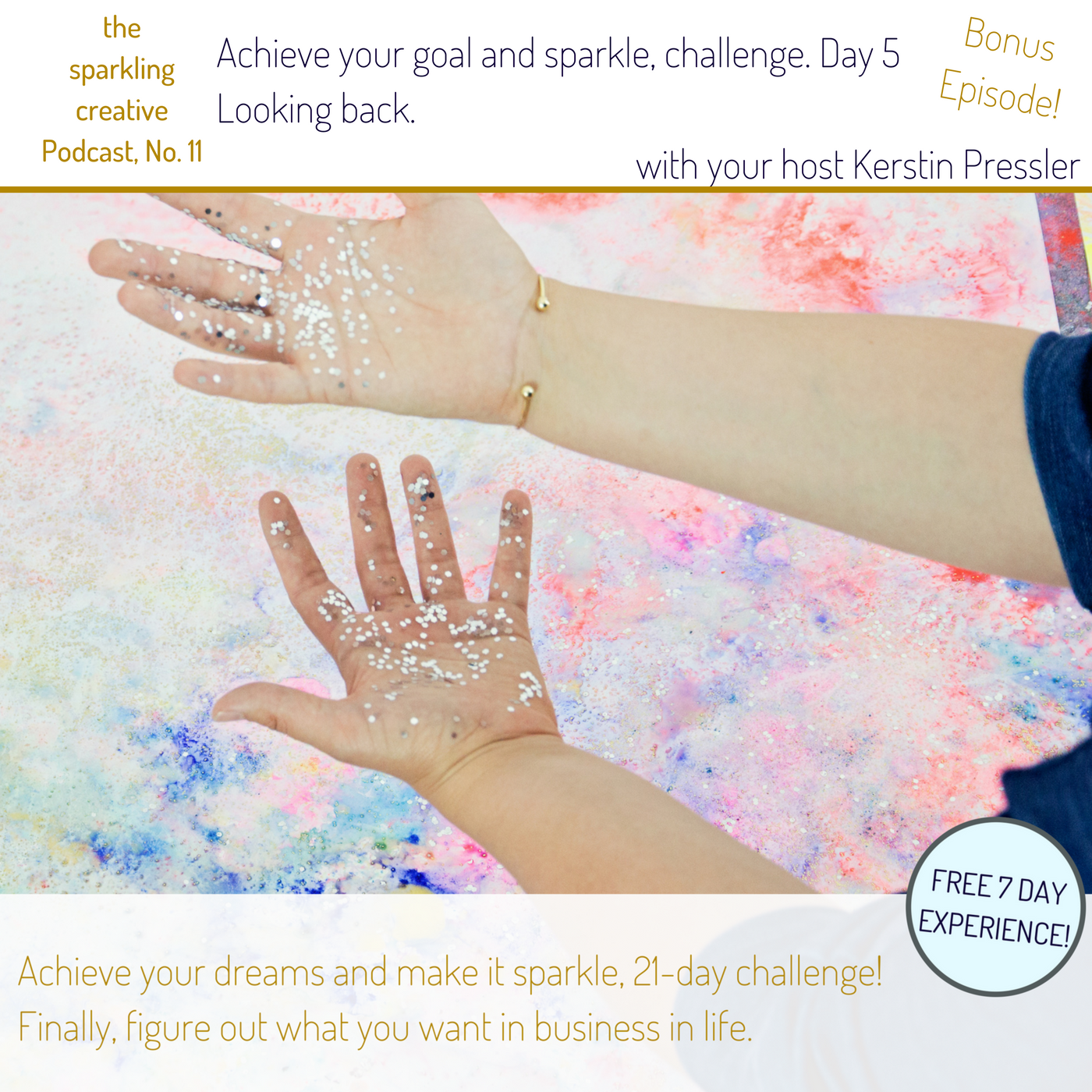 the sparkling creative Podcast, Episode 11, looking back. Challenge Day 5