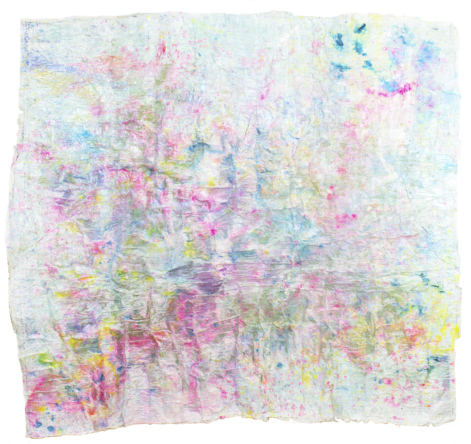 'Sparkling skies NO. 11', 163 x 183 cm, acrylic paint on handmade paper-base, Kerstin Pressler, www.kerstinpressler.com