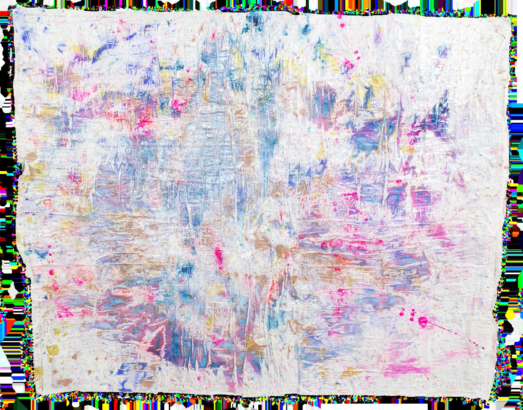 'Sparkling skies NO. 8', 99 x 128 cm, acrylic paint on handmade paper-base, Kerstin Pressler, www.kerstinpressler.com