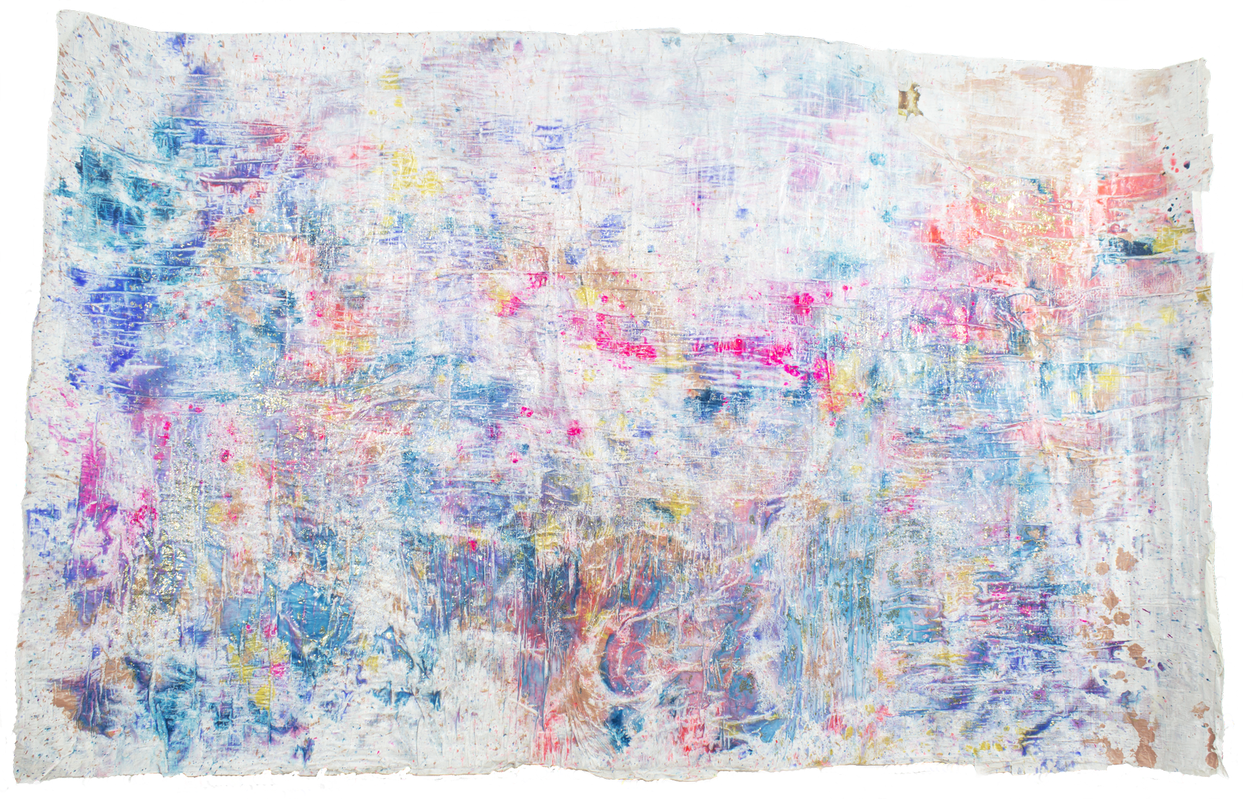 'Sparkling skies NO. 9',172 x 105 cm, acrylic paint on handmade paper-base, Kerstin Pressler, www.kerstinpressler.com
