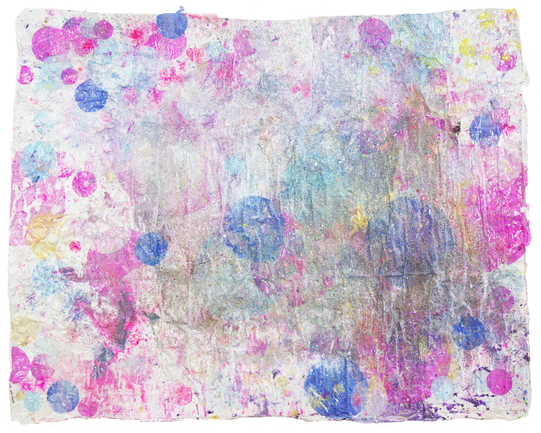 'Lumiverse NO. 2', 95 x 130 cm, acrylic paint and silk paper on a handmade paper-base. Kerstin Pressler, www.kerstinpressler.com
