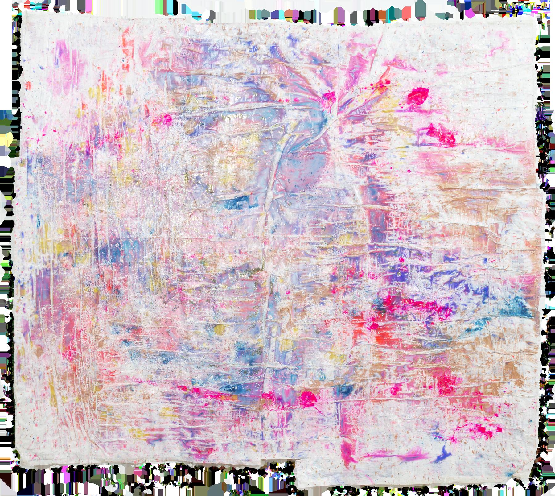 Sparkling skies NO. 7', 96 x 110 cm, acrylic paint on handmade paper-base, Kerstin Pressler, www.kerstinpressler.com