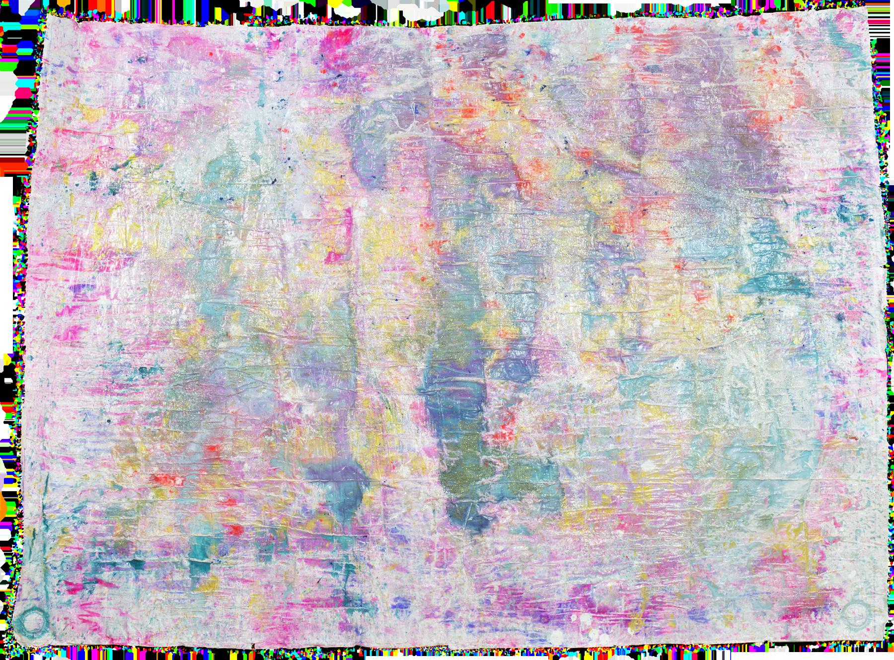 'Sparkling skies NO. 10', 135 x 185 cm, acrylic paint on handmade paper-base, Kerstin Pressler, www.kerstinpressler.com