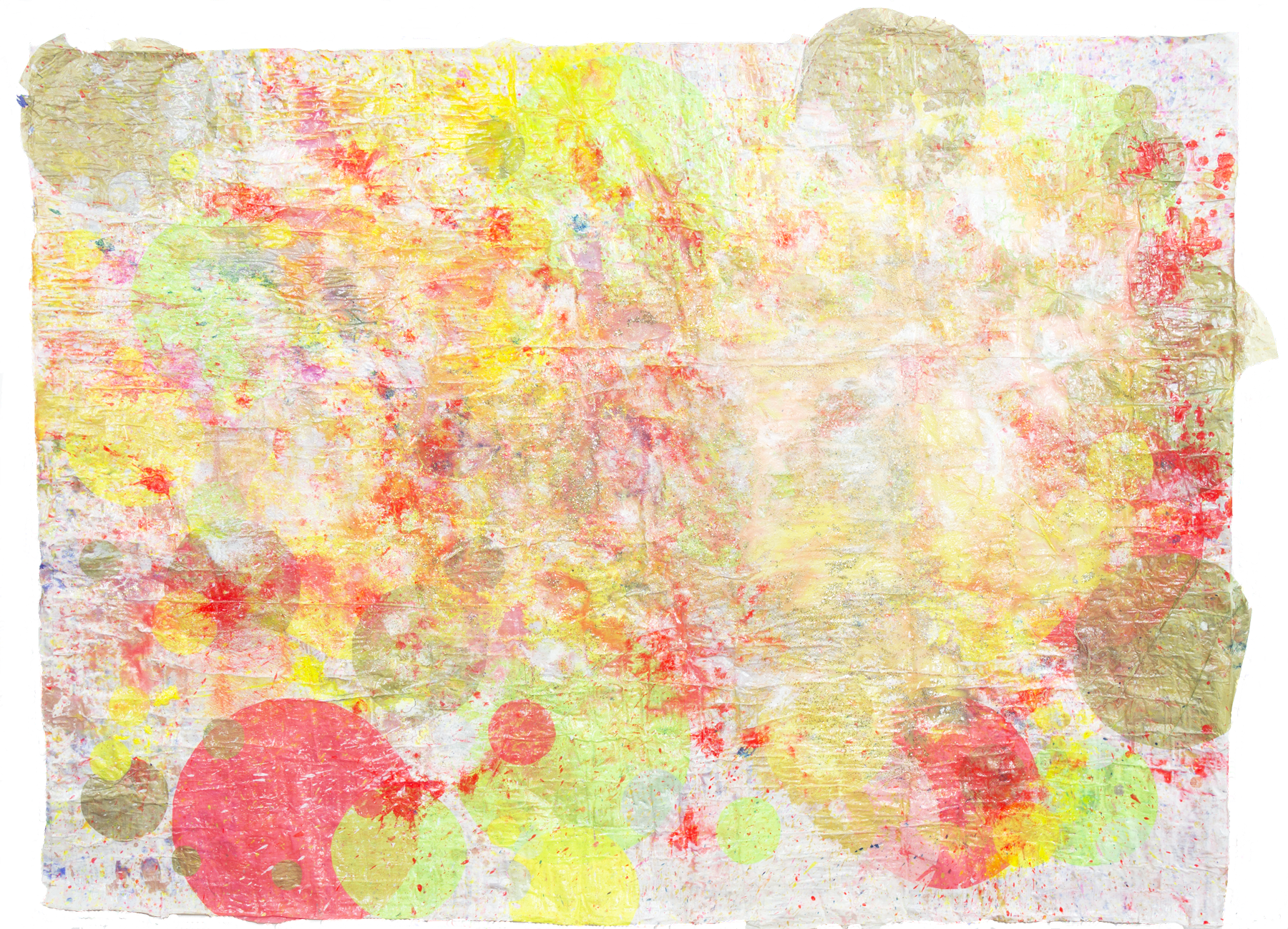 'Lumiverse NO. 6', 128 x 100 cm, acrylic paint and silk paper on a handmade paper-base. Kerstin Pressler, www.kerstinpressler.com
