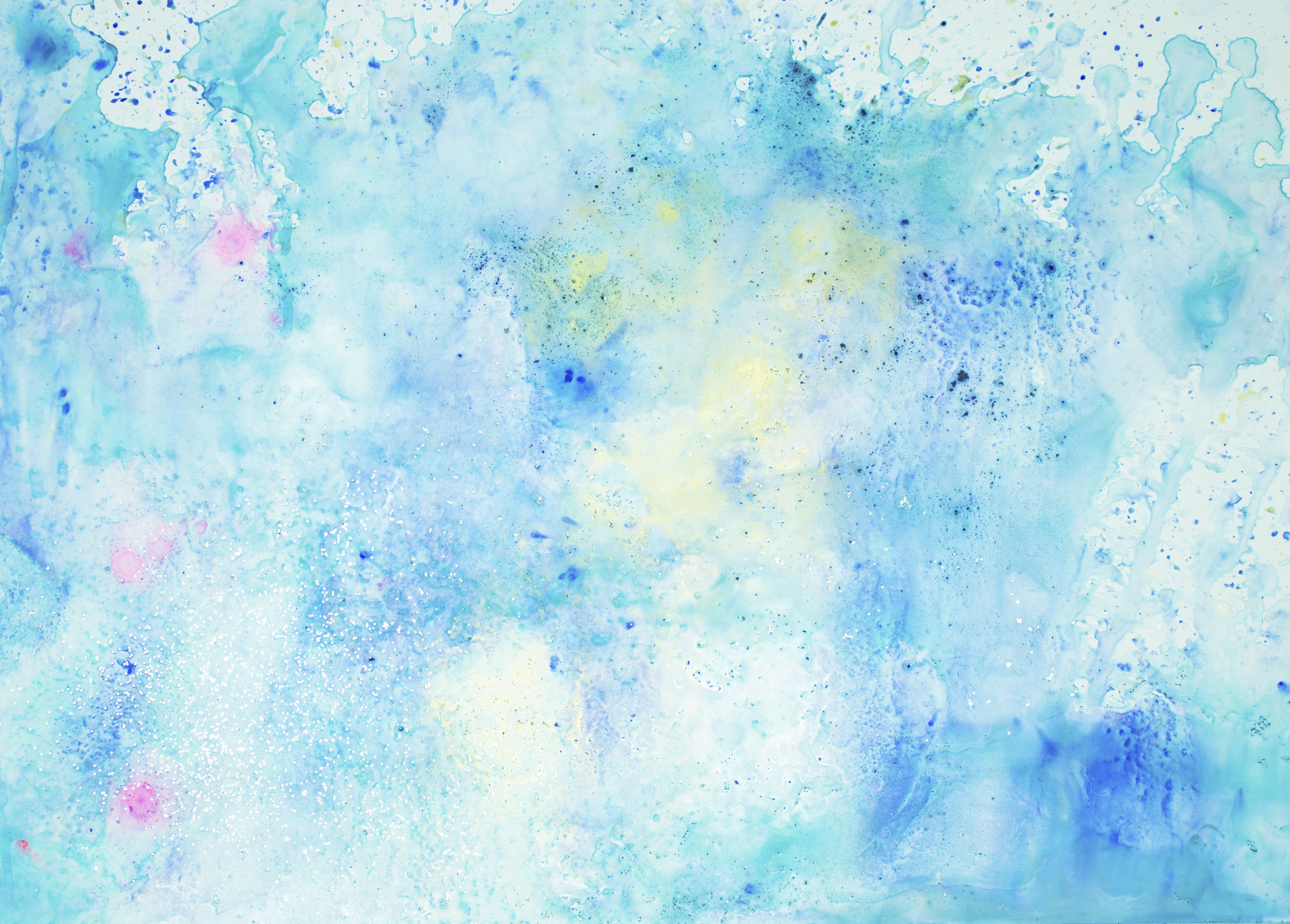 'Blush skies, NO. 7', 42 x 59,5 cm, acrylic paint on Steinpaperbase, Kerstin Pressler, www.kerstinpressler.com