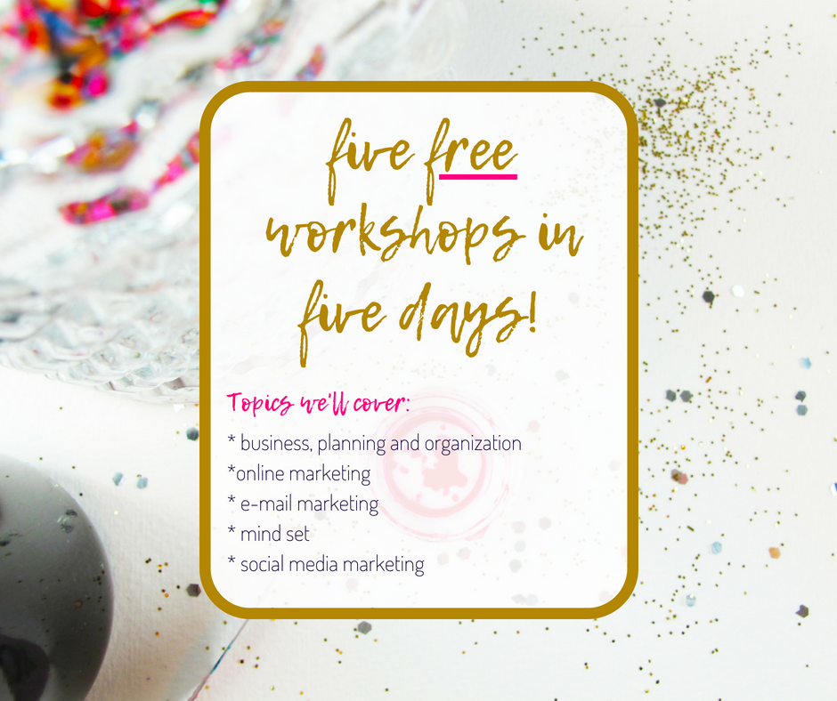 free sparkling creative workshop