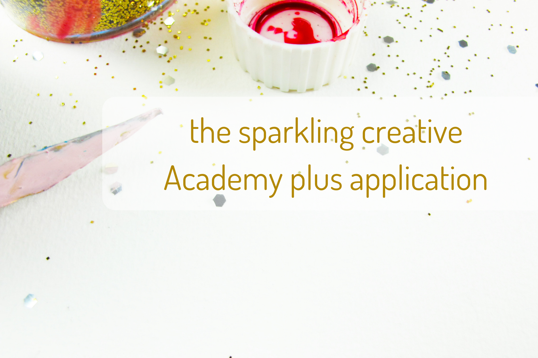 the sparkling creative Academy application, www.kerstinpressler.com/application