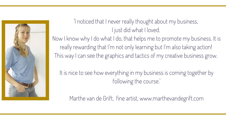 Marthe testimonial, the sparkling creative Academy, www.kerstinpressler.com/Academy