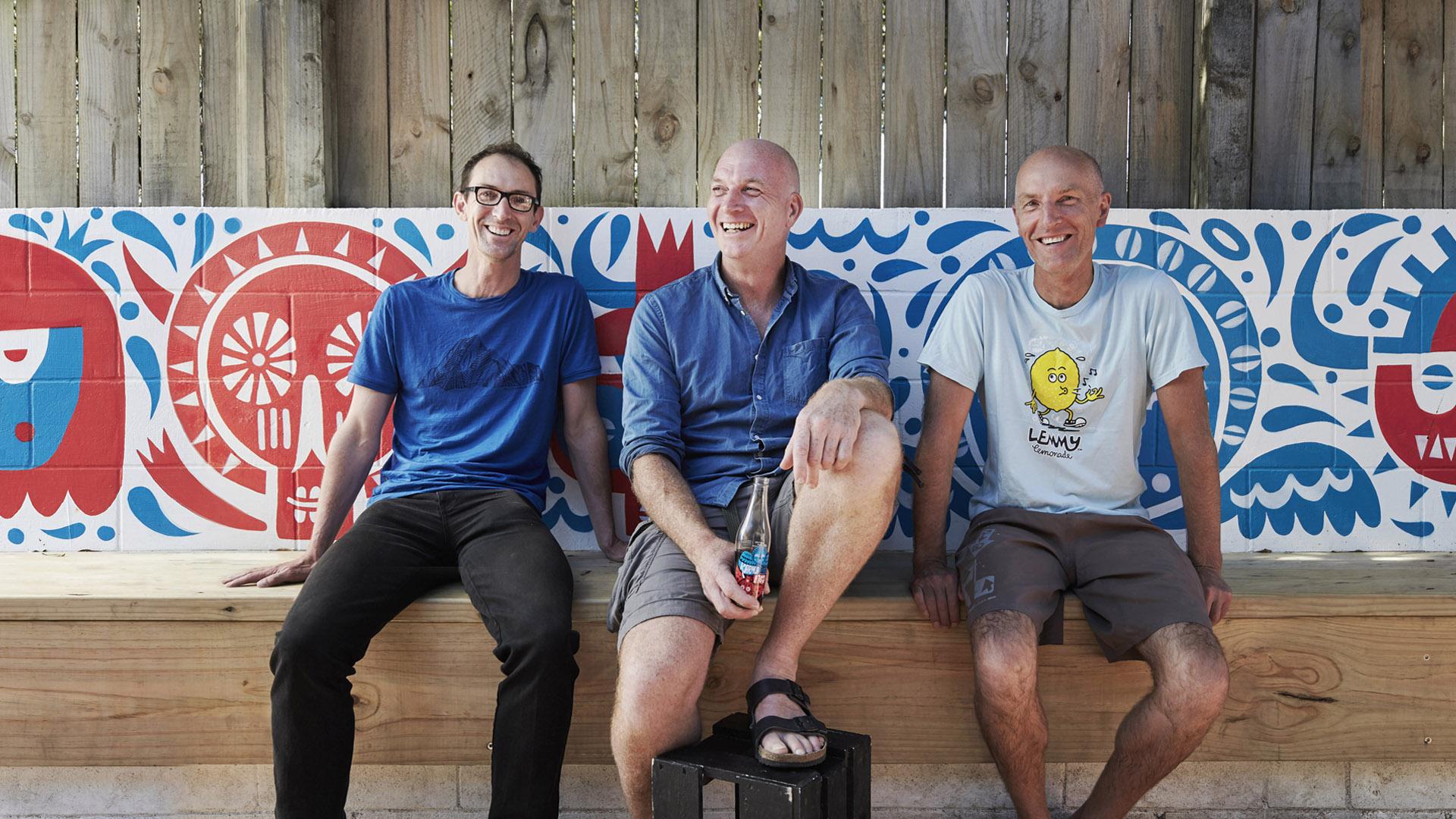 Karma Cola founders: Mat Morrison,Simon Coley and Chris Morrison.