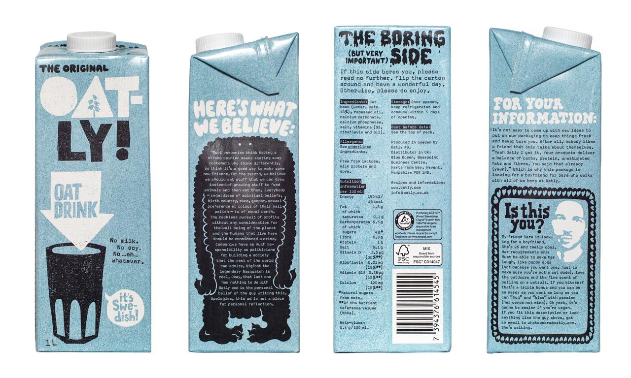 Oatly UK packaging 2016.