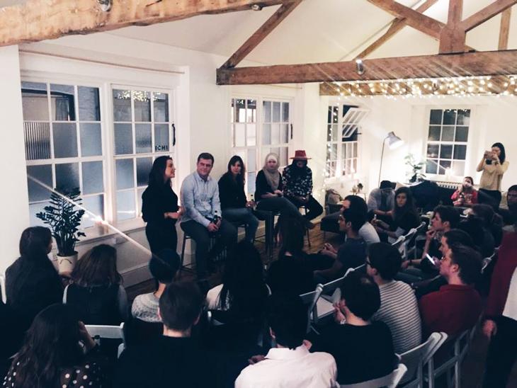 An evening of debate at Vinaya House. Photo: Vinaya