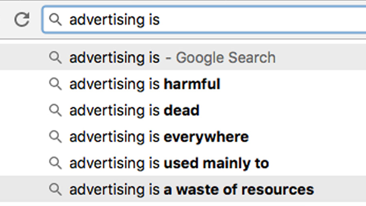 Google predictive search based on most popular searches.
