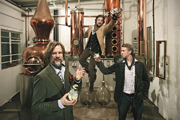 Co-founders Sam Galsworthy and  Fairfax Hall and   Master Distiller Jared Brown. Photo:Sipsmith