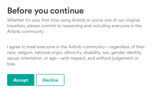 Airbnb's Community Commitment.