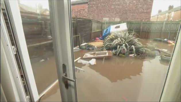 Screenshot: Lindsay's flooded house.