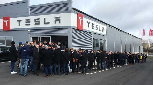 Tesla showroom in Gothenburg.
