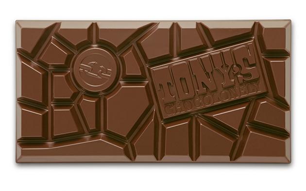 Tony's uneven chocolate design.