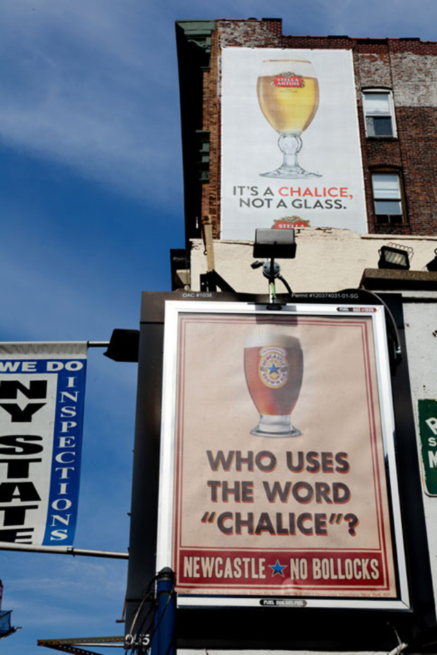 Newcastle Brown Ale campaign poking fun at beer advertising.