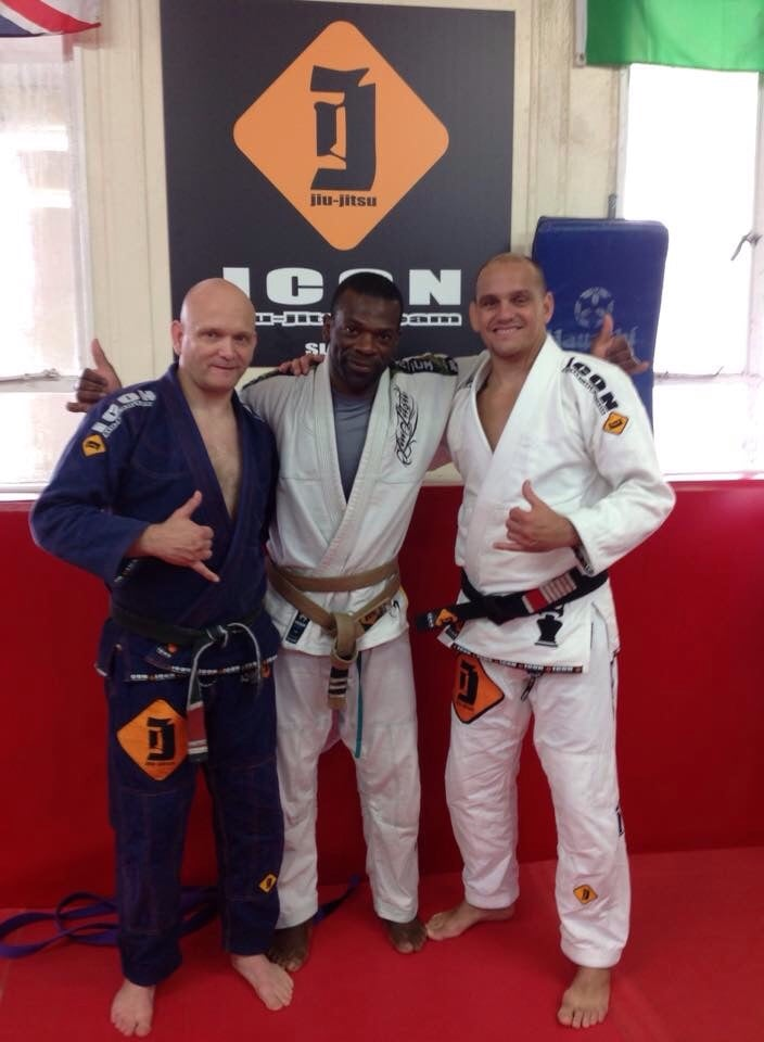 Grading day, with ZeMarcello former world champion and Icon BJJ FOUNDER and Steve C my coach. These guys taught me during years and showed me love and respect for BJJ. Osss